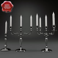 candlesticks set modelled 3d model