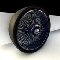 chrome spokewheel 3d model