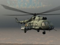 MIL MI-17 Soviet Transport Helicopter Game Ready