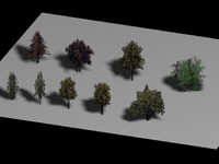 11- 18 Optical Trees Collection - Very Low Poly - by Xacta  3D models