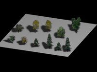 19 - 27 Optical Trees Collection - Very Low Poly - by Xacta  3D models