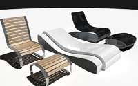 lounge chairs 3d model