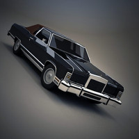 continental town car coupe 3d model