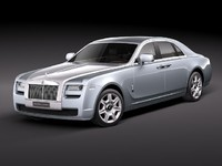 rolls royce rollsroyce ghost 3d model