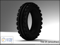 tire wheels 25 3d model