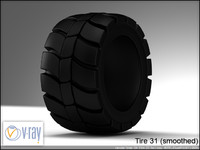 tire wheels 31 3d model