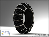 tire wheels 46 3d model
