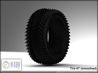 tire wheels 47 3d model