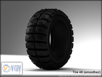 tire wheels 48 3d model