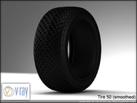 tire 50 wheels 3d model