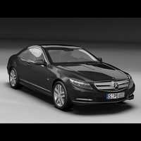 mercedes benz cl 3d model