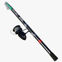 Telescopic Fishing Rod (Rigged)