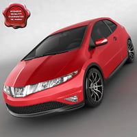 honda civic type s 3d model