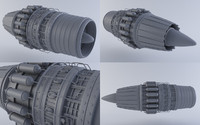 jet engine mkvii 3d model