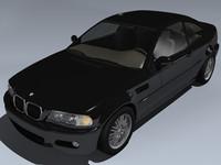 2002 bmw m3 3d model