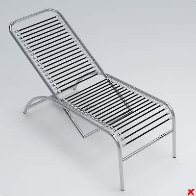 Chaise longue 3d model for Chaise longue dwg