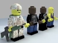 Lego man with 4 outfits