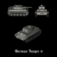 german tank panzer iv 3d model