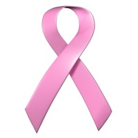 pink ribbon cancer awareness 3d model