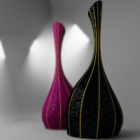 decorative vase 3d model