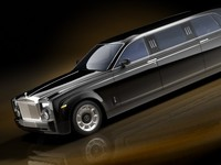 rolls royce phantom limousine 3d model
