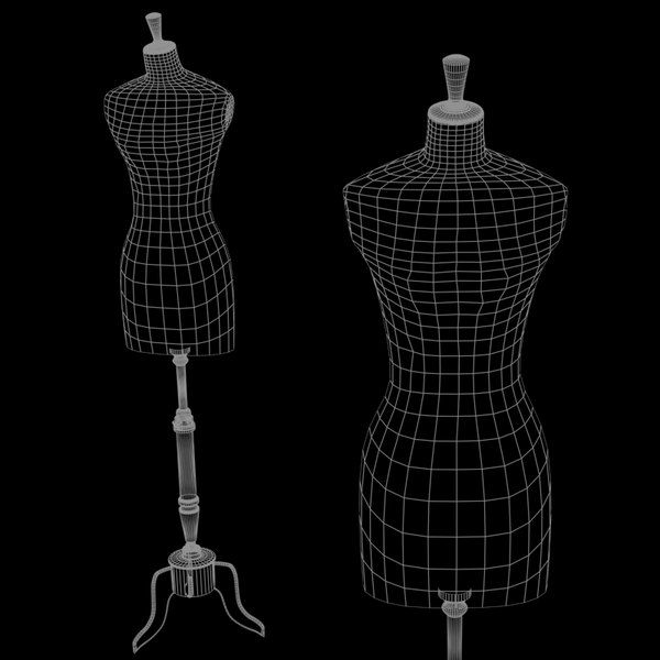 stockman mannequin - display 3d model - Stockman Mannequin - Display Bustform - Workroom Bustforms... by InfinityStudio