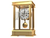 classic old golden clock - vray materials