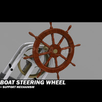 boat wheel + support mechanism