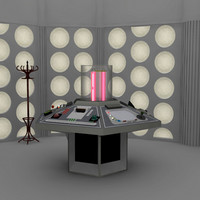 Doctor Who TARDIS console room 1982 full set