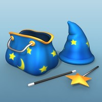 magic items 3d model