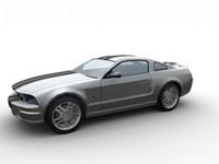 car mustang 3d model