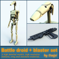 Battle droid + blaster set