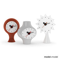 ceramic clocks vitra 3d model