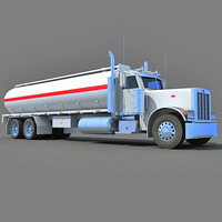 3d model of heavy tanker truck