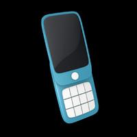 cinema4d stylized toon phone