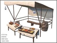 bread stall 3d model