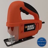 black decker handle jigsaw 3d model