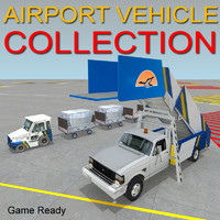 Airport vehicle tow & Stair Truck
