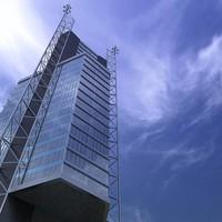 skyscraper architectural 3d model