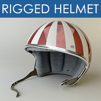 rigged motorbike helmet 3d model