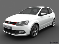 volkswagen polo gti 2011 3d model