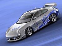 porsche 911 s tuning 3d model