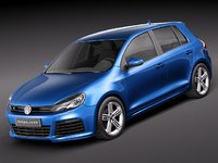 volkswagen golf r 3d model