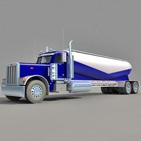 3d model american tanker truck