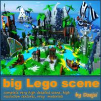 complete scene 3d model