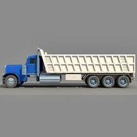 3d american dump truck