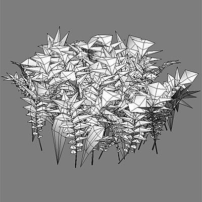 silverweed plant flowers 020 3d model - 020_silverweed... by 3DUA