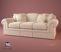 3d model of baker sofa 6808