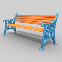 maya cast iron wood bench
