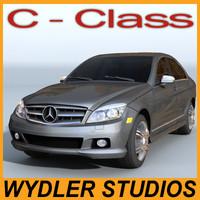 mercedes c-class 3d model